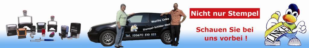 Werbetechnik für Firmen und privat, individuell erstellt von der Agentur Stempel-Schilder-Werbung in Saalfeld/Saale.
